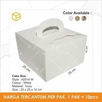 Dus Kue, Cake Box, Gift, Souvenir, Packaging, Kotak TC-42514 WHITE