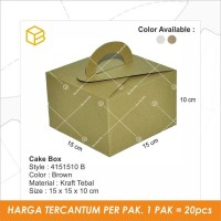 Dus Kue, Box, Cake Box, Gift Box, Kado, Souvenir Box TC-4151510 Brown