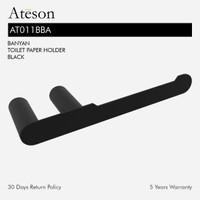 ATESON AT011BBA Tempat Tissue Roll Gulung Aksesoris Kamar Mandi Hitam