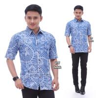 New Kemeja Batik Jeans Pria Lgn Pdk Berkualitas Elegan - Ory DN Batik - M