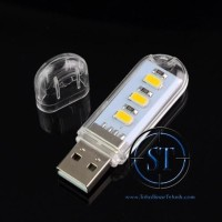 Lampu Led USB 3Led Type C SMD 5730 Warm White Night Light Lamp