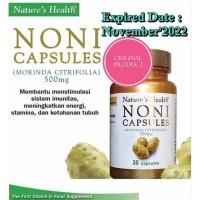 Nature's Health NONI Isi 30 Capsules Untuk Stamina & Imunitas