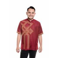 Baju Koko Lengan pendek Bordir Kualitas Premium TN 902 Merah
