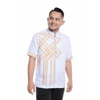 Baju Koko Lengan Pendek Bordir Kualitas Premium TN 902 Putih