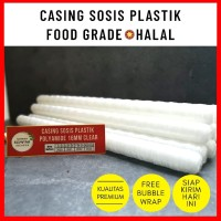 Casing / Selongsong Sosis Plastik Polyamide Halal Food Grade 16 mm Cle