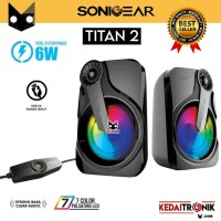 Speaker Sonicgear Titan 2 with Volume Control 7 Light Portable 2.0 6W