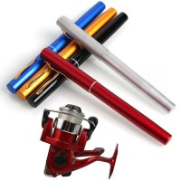 Pancingan Pena Aluminium Set + Reel Pancing Mini Pen Shape Fishing Rod