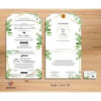 Undangan Pernikahan / UND. 002 / Undangan Rustic / Undangan Murah