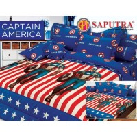 - Saputra Bed Cover Set King Captain America / Bedcover 180x200 -