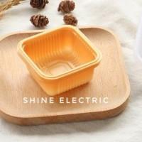 Tray plastik kotak tatakan tempat kue bulan mooncake moon cake 8,5cm