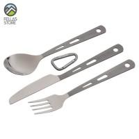 Optimus Titanium 3-Piece Cutlery Set - Sendok - Garpu - Pisau