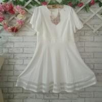dress big size branded putih/big mini dress jumbo putih/dress branded