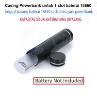 CASING POWERBANK CASE 1 SLOT BATERE 18650 CASING MODUL POWERBANK