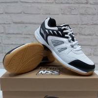 Sepatu Badminton Lining Attack V G5 Original aytq 078-4 White Black