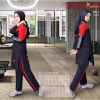 Setelan Baju Olahraga Wanita + Believe BMS 21 + Baju Olahraga Ori - Hitam, S