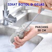 38cm Sikat Spons Pembersih Botol Minum Susu Gelas Sponge Cleaning Brus