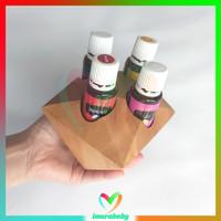 Rak kayu essential oil unik 4 slot