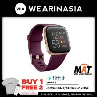Fitbit Versa 2 Smartwatch Bordeaux / Cooper Rose Garansi Resmi 1th