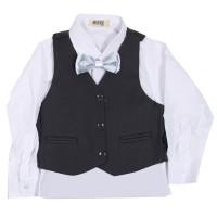 MOEJOE Plain Grey Simple Suit