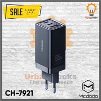 ADAPTER CHARGER MCDODO 65W GAN FAST PD QC 4.0 3.0 AFC SCP TYPE C