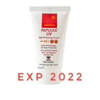Papulex UV Cream SPF45 50mL Sunblock Jerawat/Kulit Berminyak/Oil Free