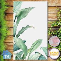 Hiasan Dinding Daun Biru / Dekorasi Rumah / Hiasan Kamar Cafe