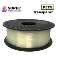 SUPEL Bahan Tinta Filament Filamen Printer 3D PETG 1.75 mm Transparan