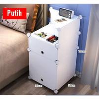 SD004 - Side Desk 2 Kabinet dgn Tambahan Ruang / Laci Meja Kamar Tidur