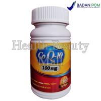 Co Q-10 100mg 100 Softgels - Antioksidan - Coenzyme - CoQ10 - Co-Q10