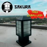 Lampu Taman Pilar Minimalis Sakura