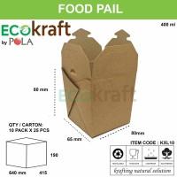 FOOD PAIL MURAH / MANGKOK KERTAS MURAH BAHAN KRAFT kxl10 - 25pcs
