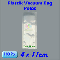 Plastik Vacuum Bag Mini 4 x 11 cm, Kemasan Bumbu, Plastik Sealer Bumbu - 1Pak isi 100pcs
