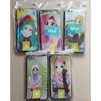 Softcase motif girl hijab untuk hp vivo Y69