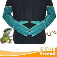 Sarung Tangan Hewan Anjing Kucing Reptil Pelindung Anti Gigit Panjang