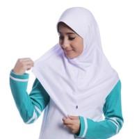 Kerudung Sekolah Anak 6-7 Th -Jilbab Polos Coklat Sekolah Rabbani