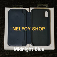 Iphone X Leather Folio Case casing Flip AUTOLOCK Hard Soft Cover