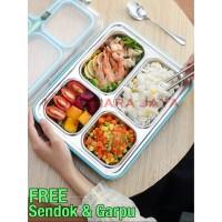Kotak Makan Lunch Box Stainless 4 Sekat