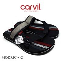 Sandal Pria Carvil Original Anti Air - Sendal Carvil Pria Modric Grey