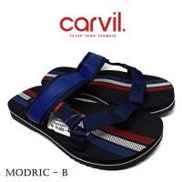 Sandal Pria Carvil Original Anti Air - Sendal Carvil Pria Modric Blue