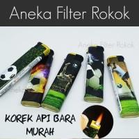 Korek Api Bara Murah Motif Bola   Single Jet Flame Lighter