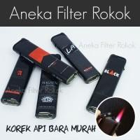 Korek Api Bara Murah Motif Logo   Single Jet Flame Lighter