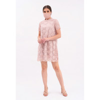 CHIC SIMPLE 2 TONE LACE BBDOLL S/S DRESS
