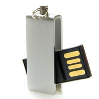 Souvenir Promosi Logo Perusahaan USB Flashdisk Metal Swivel Mini