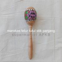 mainan anak alat musik marakas telur lukis tutul, mainan tradisional
