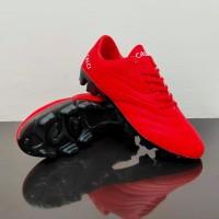 Sepatu Bola Soccer CALCI ATOM SC 210064 - Paprika Red/Black