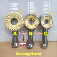 UKURAN (B) CEROBONG+BURNER KOMPOR GAS RINNAI/TUNGKU+BURNER UNTUK KOMPO