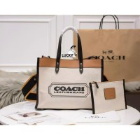 Coach Tote Bag Field 30 With Coach Badge - ORIGINAL 100%