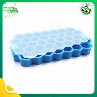 diskon Cetakan es batu silikon bentuk honeycomb/cetakan puding silikon