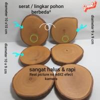 wooden coaster / wooden slice / tatakan kayu /potongan kayu /alas kayu
