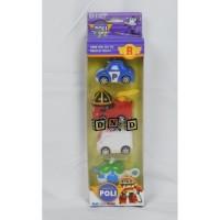 RismaShop Mainan Anak Mobil Robocar Poli isi 4 Heli Amber Roy Rescue